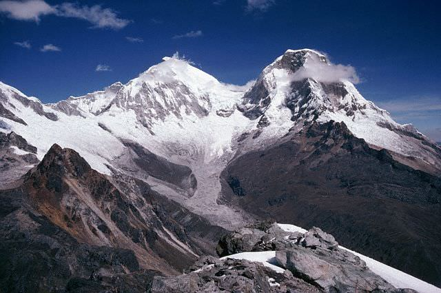 Mount Andes Range, South America (Huscaran, Peru)